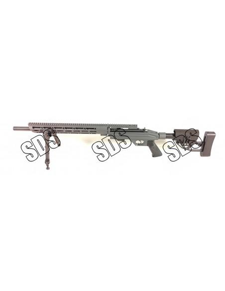 Carabine CZ 455 SDS Precision Crosse Noir Chassis Sniper Grey