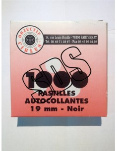 PASTILLES AUTOCOLLANTES NOIR 19 MM