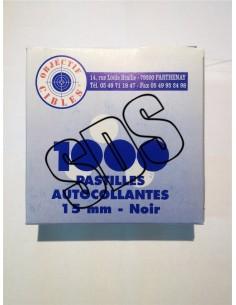 PASTILLES AUTOCOLLANTES NOIR 15 MM