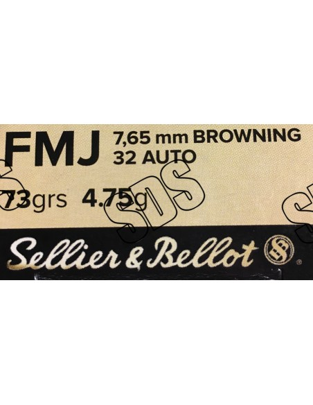 7,65 Browning FMJ SELLIER & BELLOT